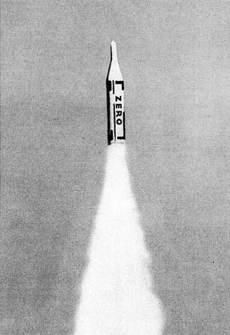 Heinz Mack Zero Rocket photocollage Zero, 1961